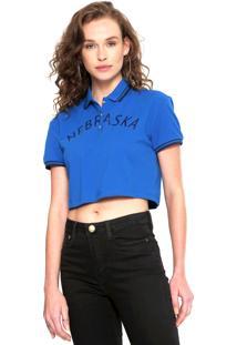Camisa Polo Calvin Klein Jeans Nebraska Azul