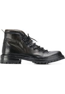 Officine Creative Ankle Boot Com Cadarço - Preto