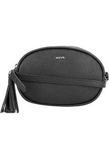 Bolsa Anacapri Mini Bag Oval Barbicachos Feminina - Feminino-Preto