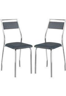 Cadeira 1717 Cromada 02 Unidades Jeans Carraro