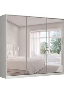 Guarda-Roupa Casal Com Espelho Tunas Iv 3 Pt 3 Gv Branco