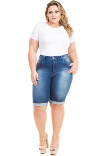 b2f9e5579 ... Bermuda Confidencial Extra Plus Size Jeans Summer Feminina - Feminino -Azul