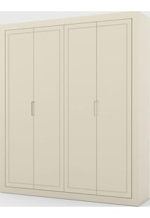 Roupeiro Tutto New 4 Portas Off White - Off-White - Dafiti