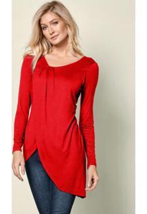 Blusa Assimétrica Vermelho