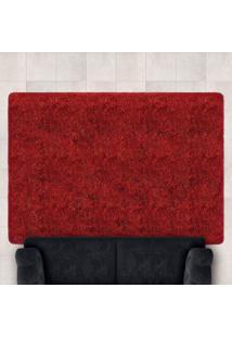 Tapete Confort Shaggy 1,40M X 2,00M Para Salas E Quartos Bordo - Bene Casa