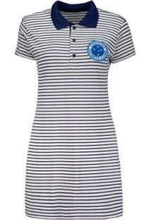Vestido Cruzeiro Hat Trick Listrado - Feminino