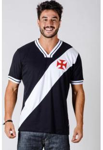 Camiseta Vasco 74 Preta E Branca