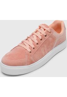 Tênis Dafiti Shoes Sola Alta Recortes Rosê