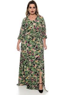 Vestido Longo Botanic Plus Size