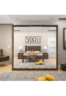 Guarda Roupa Casal Com Espelho 3 Portas De Correr Flórida Siena Móveis Demolição