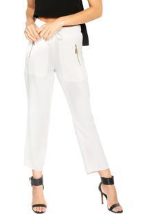 Calça Lança Perfume Pijama Branca