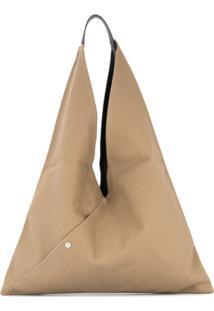 Cabas Bolsa Tote 'Triangle' Grande - Marrom