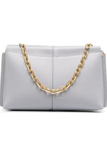 Wandler Leather Chain Shoulder Bag - Cinza