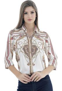 Camisa Gatabakana Manga ¾ Branca