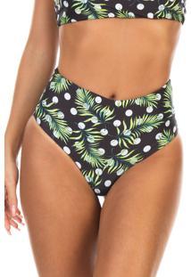 Calcinha Ilhas Rio Hot Pants Dupla Face Estampa Póas De Verão Multicolorido