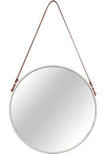 Espelho Com Tira Para Pendurar- Espelhado & Off White