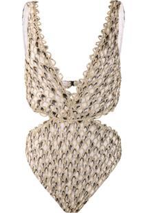 Missoni Mare Feathered Crochet Swimsuit - Branco
