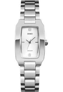 Relógio Skmei Analógico 1400 Feminino - Feminino-Prata