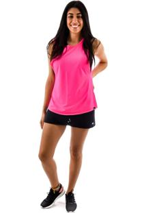 Regata Rich Young Fitness Rosa Shorts Saia Fitness Preto