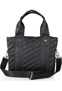 Bolsa Blue Bags Steve Nylon Feminina - Feminino-Preto