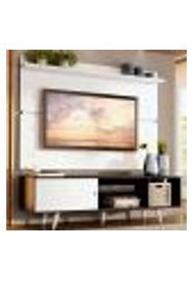 Rack Madesa Dubai E Painel Para Tv Até 65 Polegadas Com Pés - Preto/Branco 7709