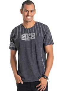 Camiseta Six2 Azul Bgo