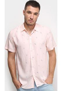 Camisa Pacific Blue Coqueiro Masculina - Masculino-Rosa Claro