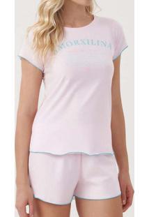 Pijama Cor Com Amor 12334 11399-Rosa-Verano