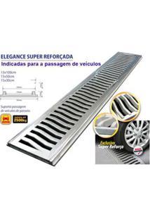 Grelha Com Porta Grelha Elegance Super Reforçado 15X30Cm Martelado Costa Navarro
