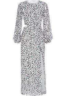 Vestido Seda Isabella Fiorentino Para Oqvestir - Branco