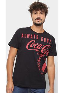 Camiseta Coca-Cola Always Cool Aroma Masculina - Masculino-Preto