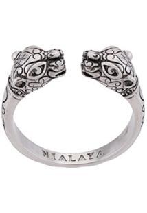 Nialaya Jewelry Anel Com Detalhe De Pantera - Prateado