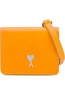 Ami Paris Bolsa Sanfonada Mini - Amarelo