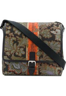 Etro Messenger Bag Jacquard - Verde