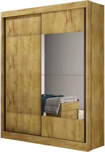 Guarda Roupa Falco Gold 2 Portas Com Espelhos Freijó Dourado