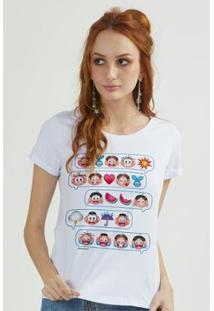 Camiseta Bandup Turma Da Mônica Emoji - Feminino