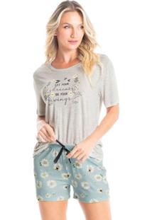 Pijama Curto Estampado Chloe