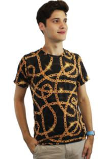 Camiseta Dionisio Collection Correntes Dourado