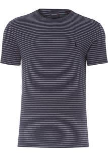 Camiseta Masculina Listra Leve - Preto