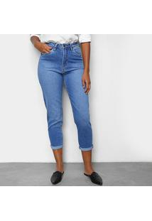 Calça Jeans Cigarrete Calvin Klein Cintura Alta Feminina - Feminino