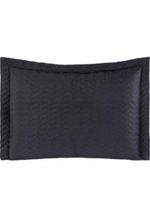 Porta Travesseiros Microfibra - Preto Familie Enxovais