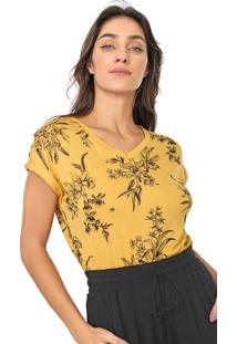 Blusa Lunender Floral Amarela/Preta