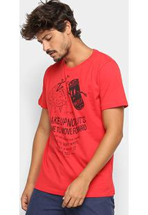 Camiseta Colcci Energy Masculina - Masculino-Vermelho