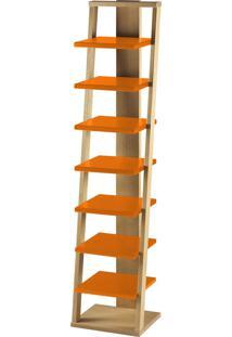 Prateleira Suspensa Stairway 1132 Palha/Laranja Novo - Maxima