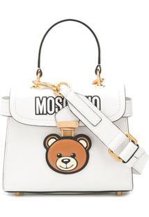 Moschino Bolsa Tiracolo Toy Bear - Branco