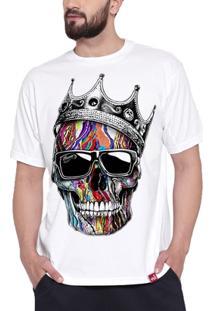 Camiseta Caveira Coroa - Masculino