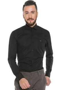 Camisa Hugo Rossi Estampada Preta - Masculino