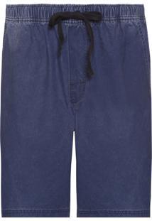 Bermuda Masculina Casual Washed - Azul Marinho