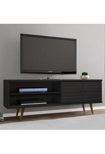 Rack Para Tv Até 60 Polegadas 2 Portas Onix Preto Fosco - Móveis Bechara