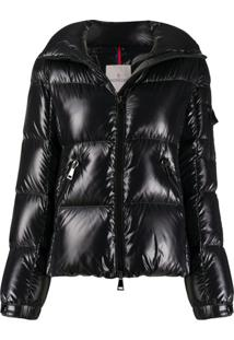 Moncler Zip-Up Padded Jacket - Preto